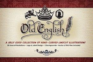 Old English Linocuts