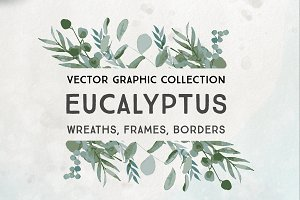 Eucalyptus Wreath Vector Graphics
