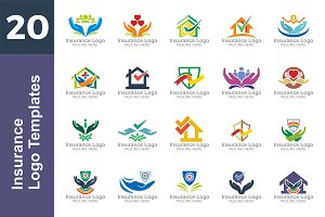20 Logo Insurance Templates Bundle