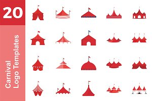 20 Logo Carnival Templates Bundle