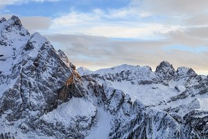 winter landscape of Alps