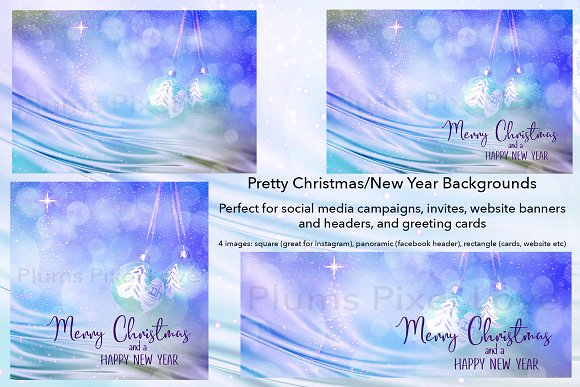 christmas new year backgrounds social media templates creative market