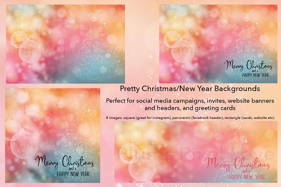 christmas new year backgrounds social media
