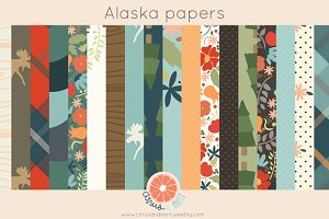 Woodland Digital Papers