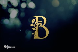 Gold B Letter Logo