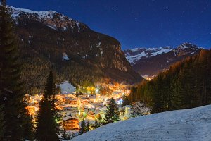Alps at night