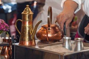 Preparation of Turkish coffee
