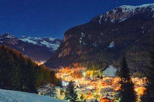 Alps at night