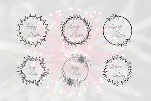 Circle Flower Florist Wedding Frame
