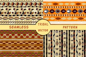 4 Vector African seamless patterns