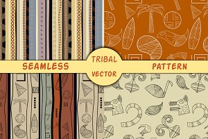 4 seamless African ethnic patterns