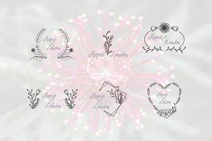 Feminine Flower Florist Frame
