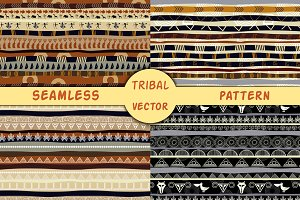 Set of african seamless textures