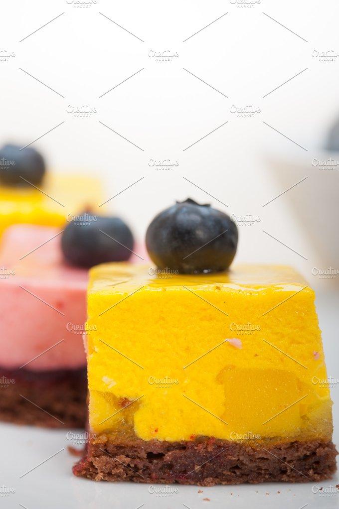 strawberry and mango mousse dessert cake 039.jpg - Food & Drink
