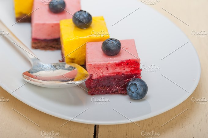 strawberry and mango mousse dessert cake 001.jpg - Food & Drink