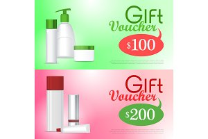Gift Voucher Cosmetic Template