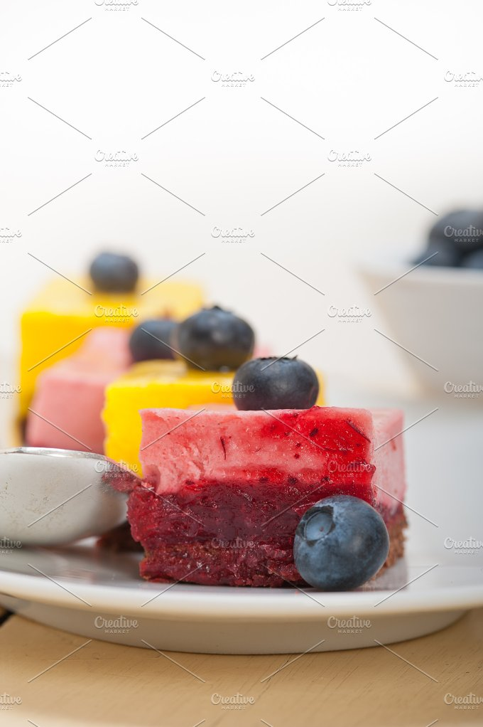 strawberry and mango mousse dessert cake 010.jpg - Food & Drink