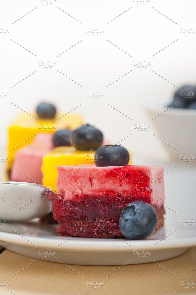 strawberry and mango mousse dessert cake 010.jpg - Food & Drink