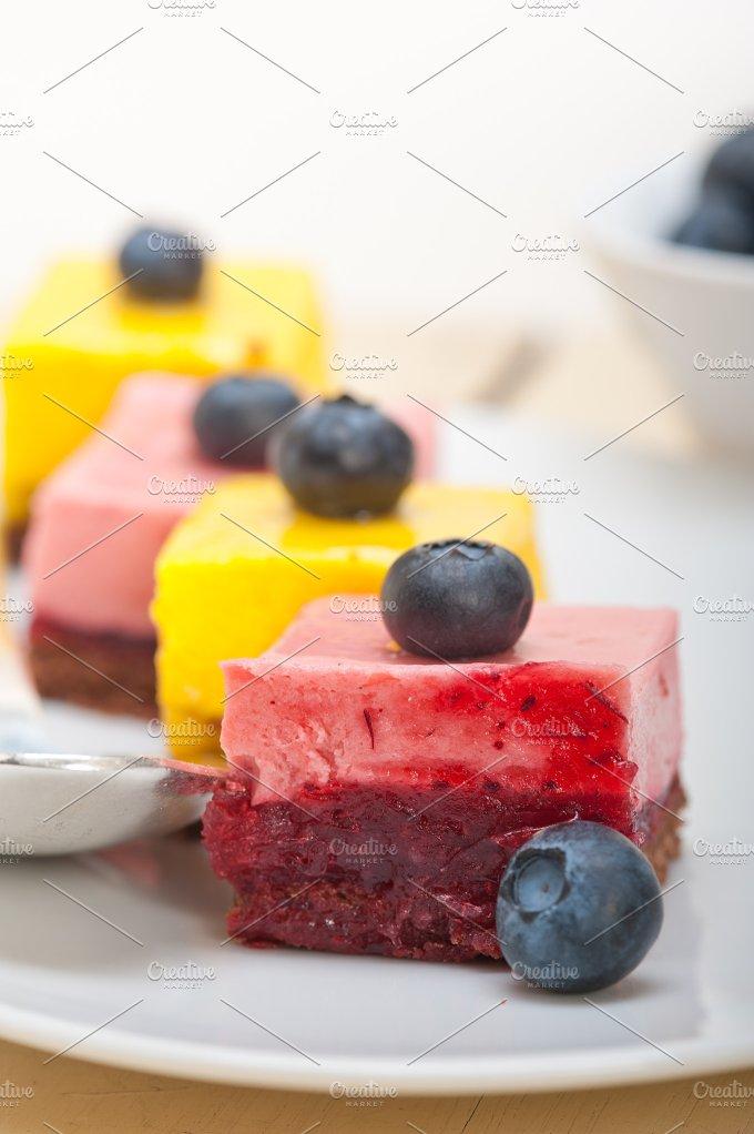 strawberry and mango mousse dessert cake 011.jpg - Food & Drink