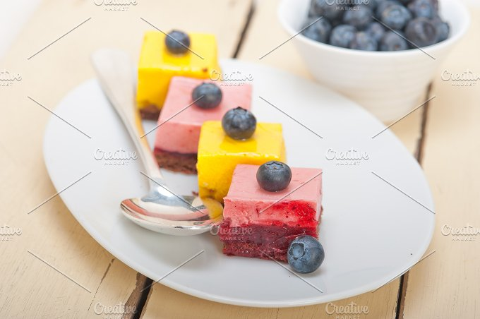 strawberry and mango mousse dessert cake 009.jpg - Food & Drink