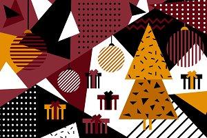 Christmas Geometric Background