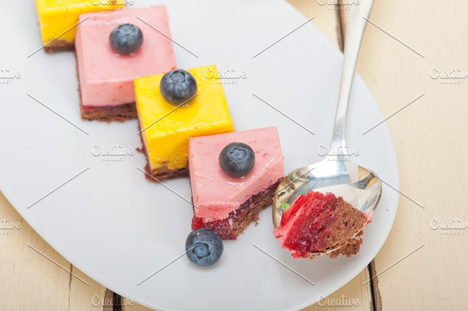strawberry and mango mousse dessert cake 021.jpg - Food & Drink