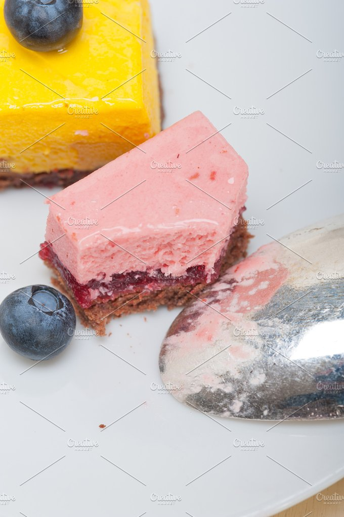 strawberry and mango mousse dessert cake 022.jpg - Food & Drink