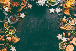 Christmas spices and chocolate