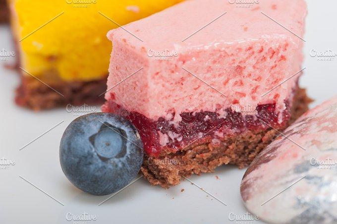 strawberry and mango mousse dessert cake 026.jpg - Food & Drink