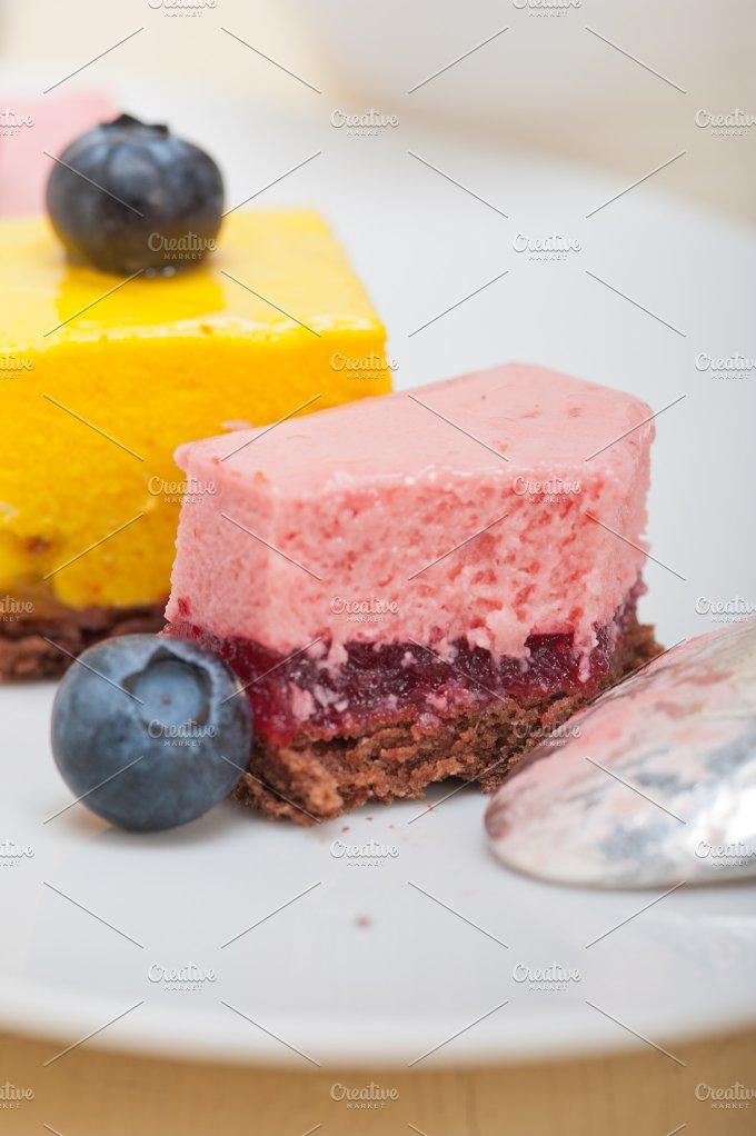 strawberry and mango mousse dessert cake 028.jpg - Food & Drink