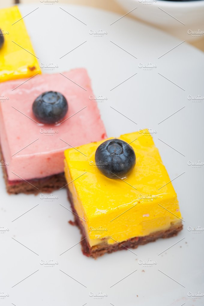 strawberry and mango mousse dessert cake 031.jpg - Food & Drink