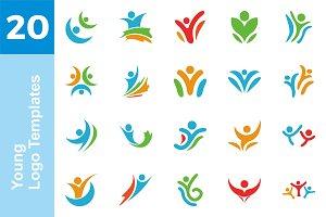 20 Logo Young Templates Bundle