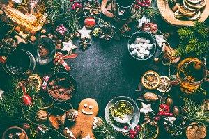 Christmas sweet food background