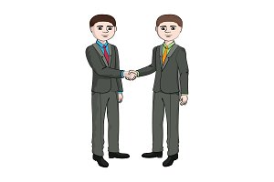 Businessman shakes hands businessman