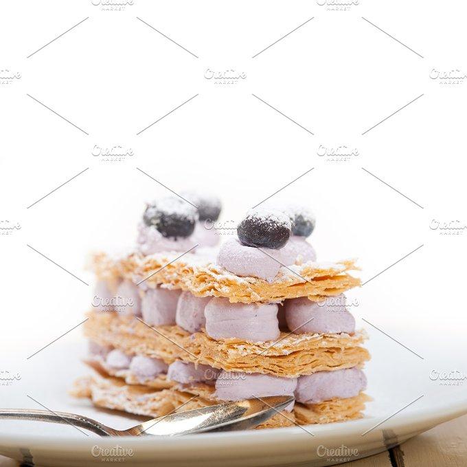 napoleon blueberry cream cake dessert 001.jpg - Food & Drink
