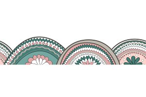 Doodle circle texture horizontal