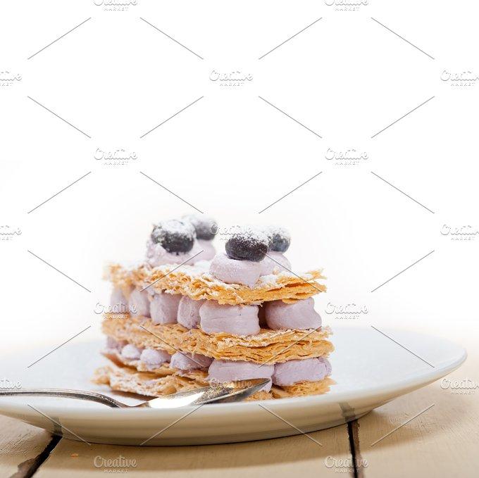 napoleon blueberry cream cake dessert 002.jpg - Food & Drink