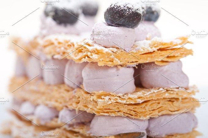 napoleon blueberry cream cake dessert 003.jpg - Food & Drink