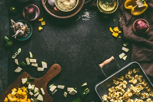 Food background with tortellini