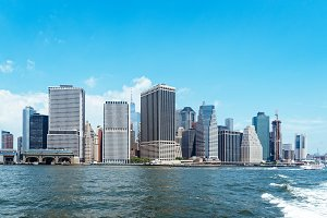 Skyline of Downtown of Manhattan in