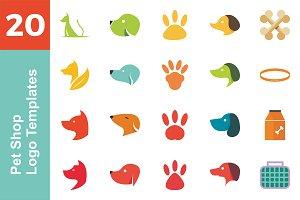 20 Logo Pet Shop Templates Bundle