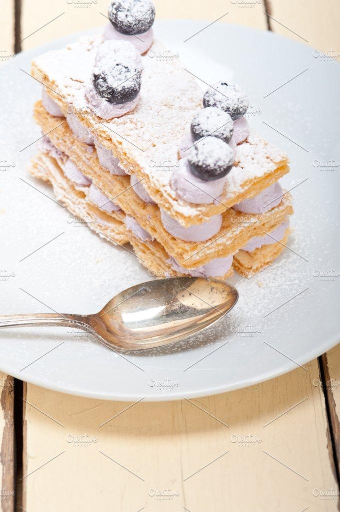 napoleon blueberry cream cake dessert 009.jpg - Food & Drink