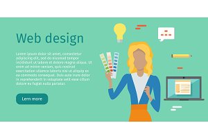 Web Design Vector Web Banner in Flat