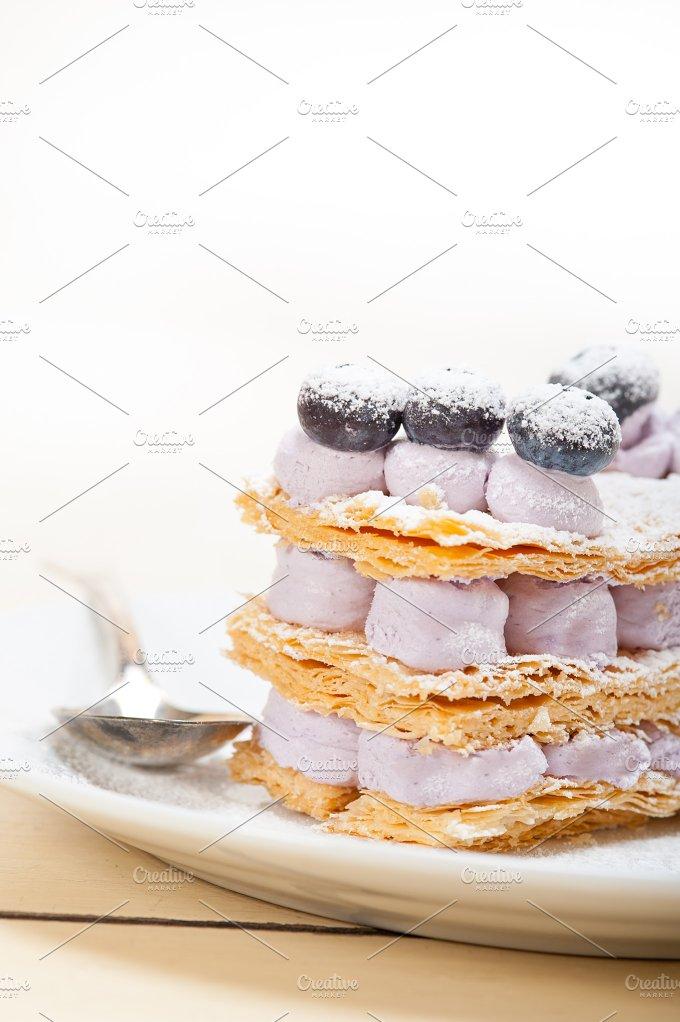 napoleon blueberry cream cake dessert 017.jpg - Food & Drink