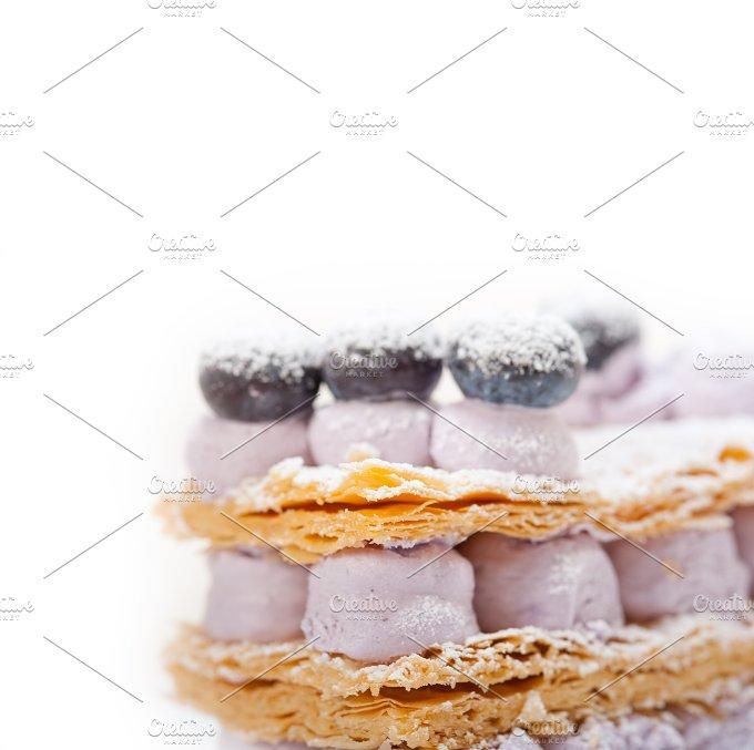 napoleon blueberry cream cake dessert 019.jpg - Food & Drink