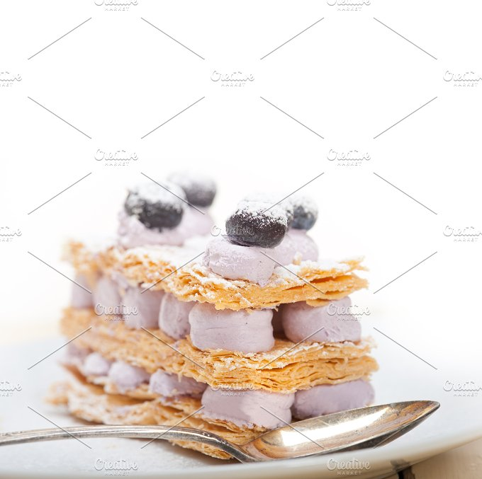 napoleon blueberry cream cake dessert 021.jpg - Food & Drink