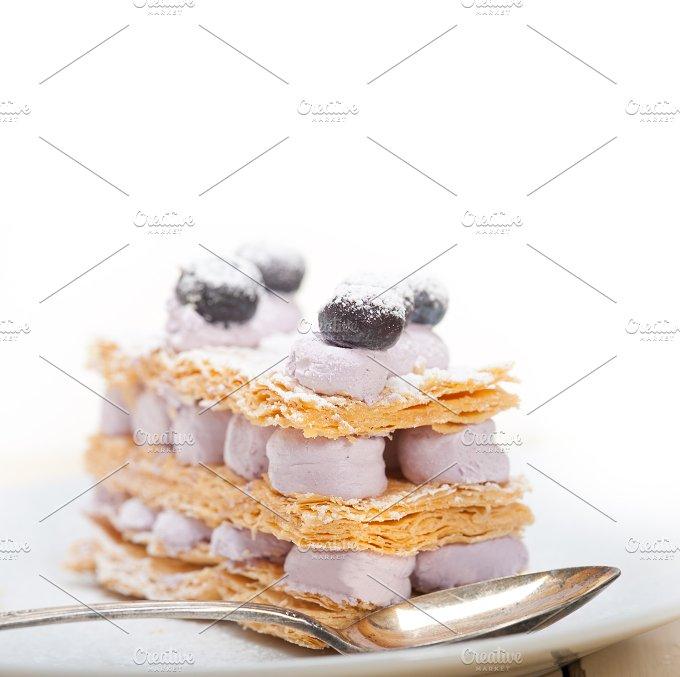 napoleon blueberry cream cake dessert 021.jpg - Food & Drink