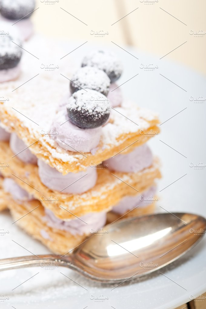 napoleon blueberry cream cake dessert 025.jpg - Food & Drink