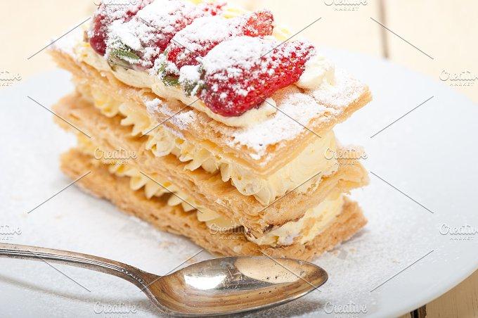 napoleon strawberry cream cake dessert 003.jpg - Food & Drink