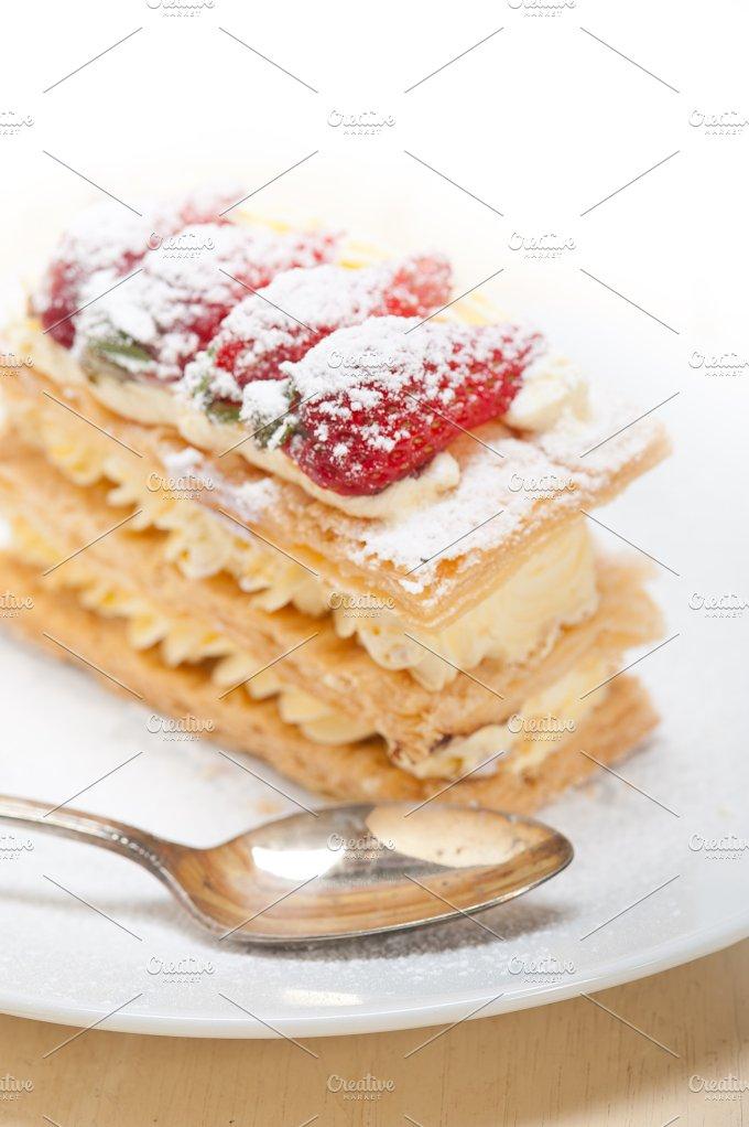 napoleon strawberry cream cake dessert 006.jpg - Food & Drink